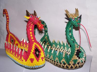 3d Origami Dragon Boat 21732074