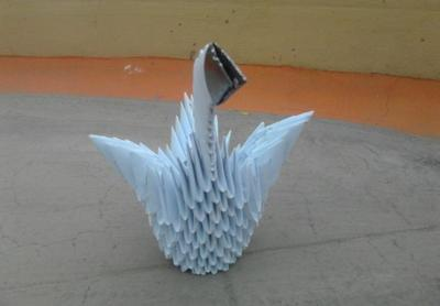 My origami swan