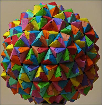 A Gold Origami Epcot Ball