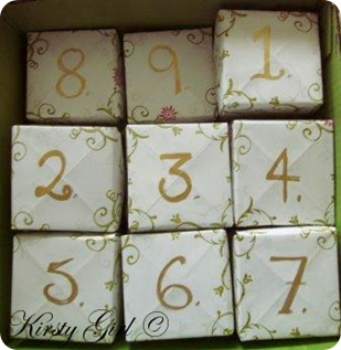 Advent Calendar made out of Masu boxes