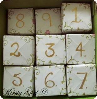 Advent Calendar made out of Masu boxes