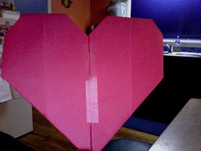my (3rd) origami heart