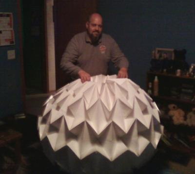Largest Origami magic ball