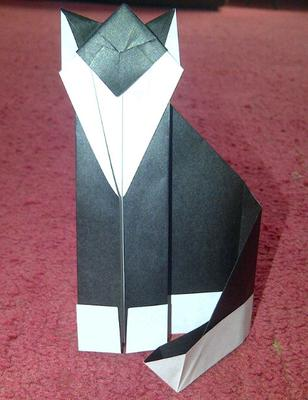 my origami cat!