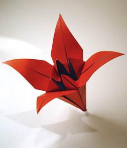 The origami lily with the flower stem mightylinksfo