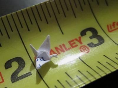 My tiny origami crane