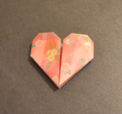 This is one of the types of origami hearts you can make