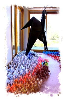 Herd of Paper Origami Horses