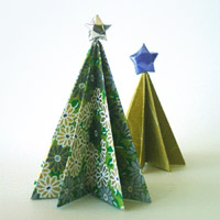 HOW TO MAKE EASY ORIGAMI CHRISTMAS TREES. — Gathering Beauty | 200x200