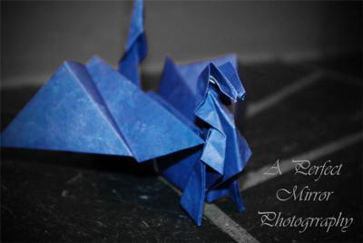 The dragon from origami-fun.com
