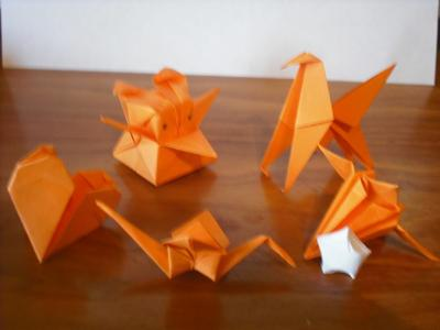 Origami that I made out of Post-Its!